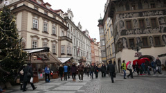 Prague - Old Town Square Stock Footage