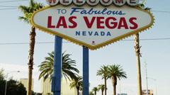 MS TU  Welcome sign / Las Vegas,Nevada,USA Stock Footage