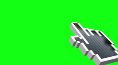 Animation cursor on green background Stock Footage