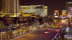 T/L WS HA Street traffic at night / Las Vegas, Nevada, USA Stock Footage