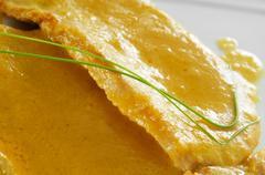 Pork sirloin with orange sauce Stock Photos