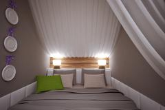 Luxurious Hotel Room - stock illustration