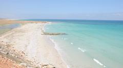 Deserted beach. Shuab. Socotra island, Yemen Stock Footage