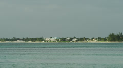 Grand Cayman, View from sea to beach - stock footage