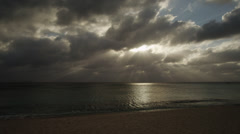 Grand Cayman, Dramatic sky over sea Stock Footage