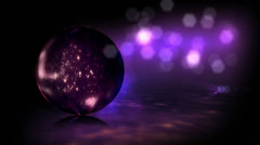 Background particle in a glass sphere Stock Footage