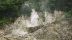 SLO MO WS Fumarole producing smoke / Soufriere, St. Lucius, Caribbean Stock Footage