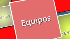 Leadership and business concepts in spanish Stock Footage