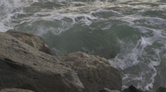 Ocean against rocks - stock footage