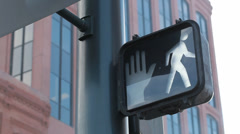 Crosswalk Sign Changing Stock Footage