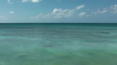 Cayman Islands, only pure turquoise water, the horizon and deep blue sky Stock Footage