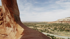 Panning shot of Wilson Arch / Wilson Arch, Utah, United States, Stock Footage