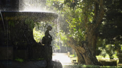 Detail of Water Fountain Stock Footage