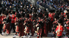 SCOTTISH MARCHING BAND Stock Footage