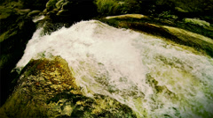 Wild stream falling from the rock Stock Footage