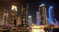 4K (4096x2304) Timelapse: Magnificent Night Dubai Marina, United Arab Emirates Footage