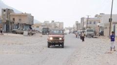 Hadibo - main city of Socotra island, Yemen Stock Footage