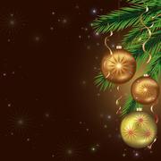 New year and christmas card, celebratory background Stock Illustration