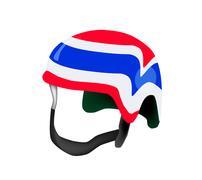A Helmet of Thai Flag on White Background Stock Illustration