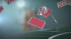 Falling Playing Cards Stock Footage
