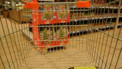 Grocery Shopping Cart Time Lapse Stock Footage