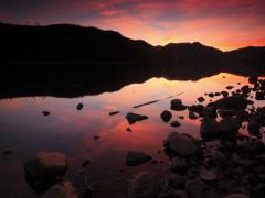 Donner Sunset Dolly Shot  Stock Footage