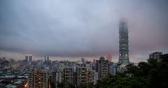 4K sunset time lapse of Taipei, Taiwan Stock Footage