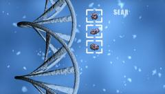 Stock Video Footage of DNA. Search Chromosome