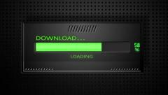 Downloading progress bar - stock footage