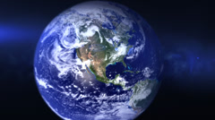 Earth Zoom animation Stock Footage