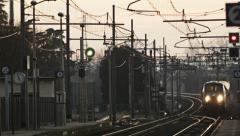 0263 Intercity regional train Stock Footage