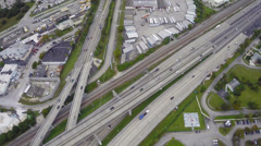 Aerial footage of the highway Stock Footage