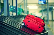 Stock Photo of Baggage on conveyor belt