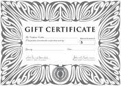 Stock Illustration of vector clipart silver gift certificate template