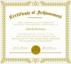 Stock Illustration of vector clipart gold victorian certificate of achievement