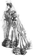 Vector clipart vintage bride Stock Illustration