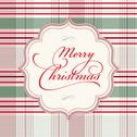 Stock Illustration of vector clipart plaid merry christmas frame
