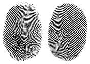 Stock Illustration of vector clipart thumb prints