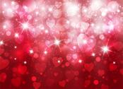 Stock Illustration of amazing valentine background with hearts