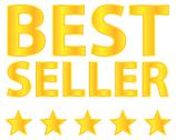 Stock Illustration of Best Seller Five Stars Golden Award