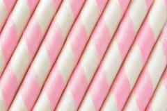Pink stripe wafer roll background. Stock Photos