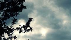 Gloomy sky Stock Footage