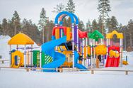 Stock Photo of Playground in winter
