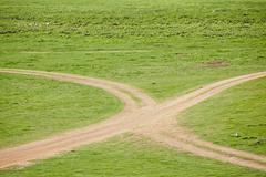 Dirt roads - stock photo