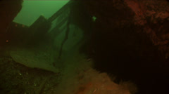 Underwater shipwreck Stock Footage