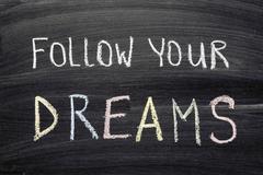 Follow your dreams Stock Photos