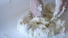Nyoki Gnocchi dough pasta Stock Footage