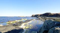 Stony beach. Stock Footage