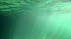Underwater sunrays Stock Footage