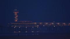 Scheveningen Pier by night Stock Footage